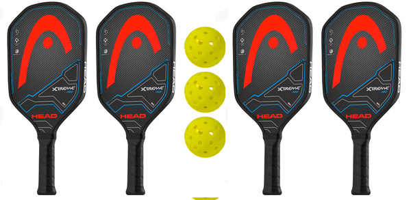 Head Bundle Set - (4) Paddles (3) Balls