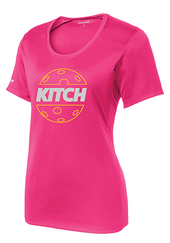 Kitch - Women's Signature Performance Crew-Raspberry