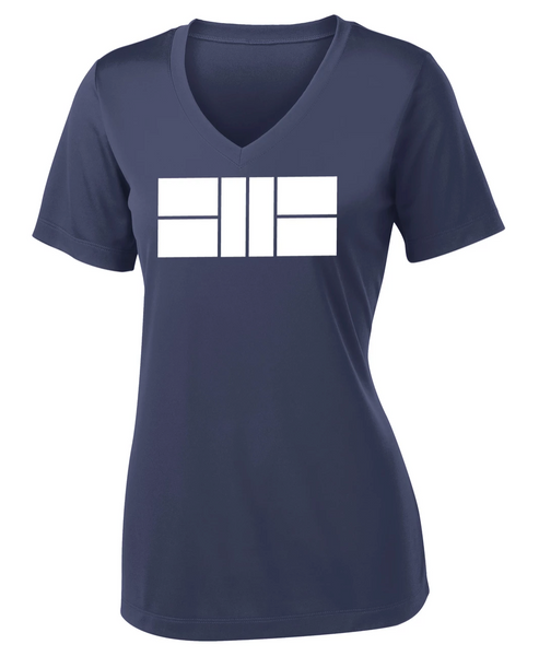 Pickleball Court - Women's Performance V Neck Tee
