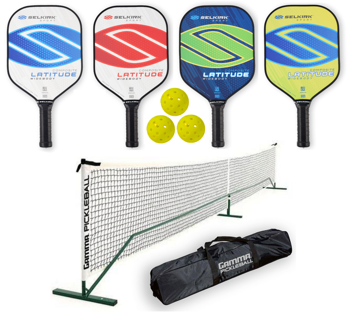 Selkirk Bundle Set - (4) Paddles (3) Balls (1) Gamma Net