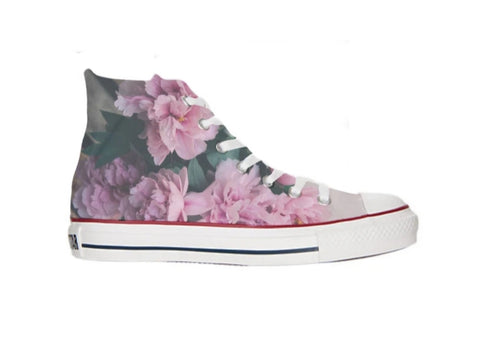 Cute Flower High Top Converse