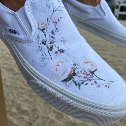 Floral Wreath Slip-on Vans