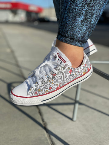 What Makes You Smile Doodles Custom Converse