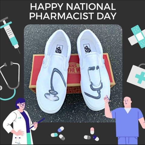 Doctor Theme Slip On Vans
