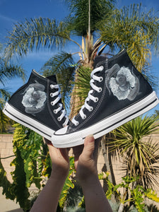 Sea Dreams High Top Converse - Available in Black and White Converse