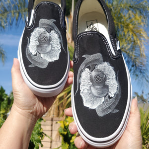 Sea Dreams Slip On Vans - Available in Black and White Vans