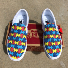 Load image into Gallery viewer, autism puzzle pieces vans shoes