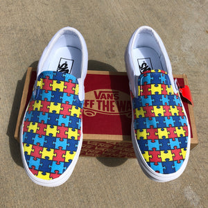 autism puzzle pieces vans shoes