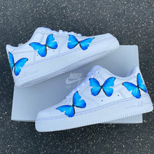 Load image into Gallery viewer, Custom Nike Air Force 1 Blue ButterFLY