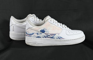 Japanese Wave - Custom Nike Air Force 1 Great Wave Off Kanagawa