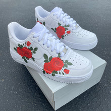Load image into Gallery viewer, Custom Nike Air Force 1 Red Rose