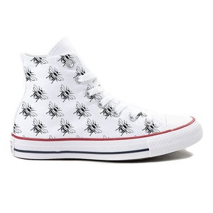 Bee Yourself! White High-Top Converse