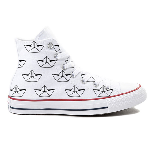 Paper Armada White High-Top Converse