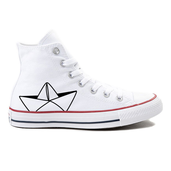 Go with the Float! White High-Top Converse