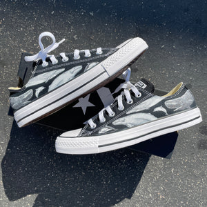 Cetacean Congregation Low Top Converse - Available in Black and White