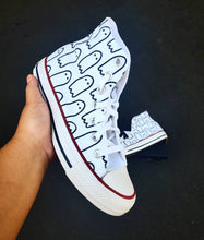 Load image into Gallery viewer, Ghoul Gang White High-Top Converse