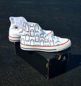 Ghoul Gang White High-Top Converse
