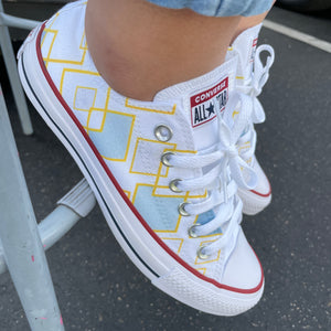 Dancing Diamond Pattern - Custom Low Top Converse