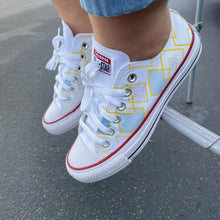 Load image into Gallery viewer, Dancing Diamond Pattern - Custom Low Top Converse