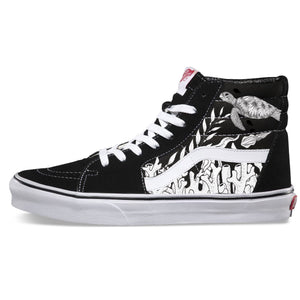 Coral Reef Sk8 Hi Vans - Available in Black and White