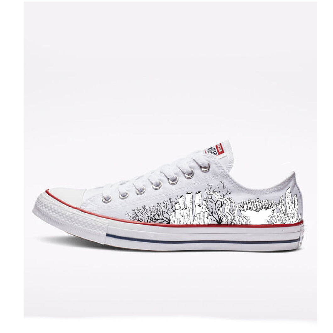 Coral Low Top Converse - Available in Black and White