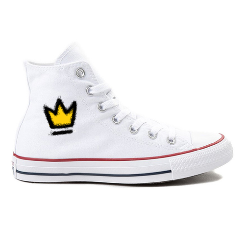 The Crown White High-Top Converse