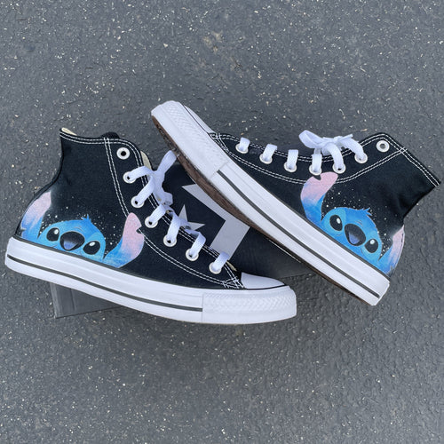 Ohana Means Family Custom High Top Converse
