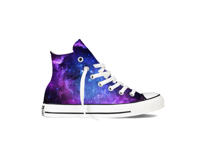 Converse Chuck Taylor High Tops Nebula Galaxy Theme