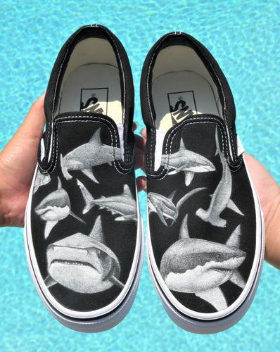 Feeding Frenzy Slip On Vans