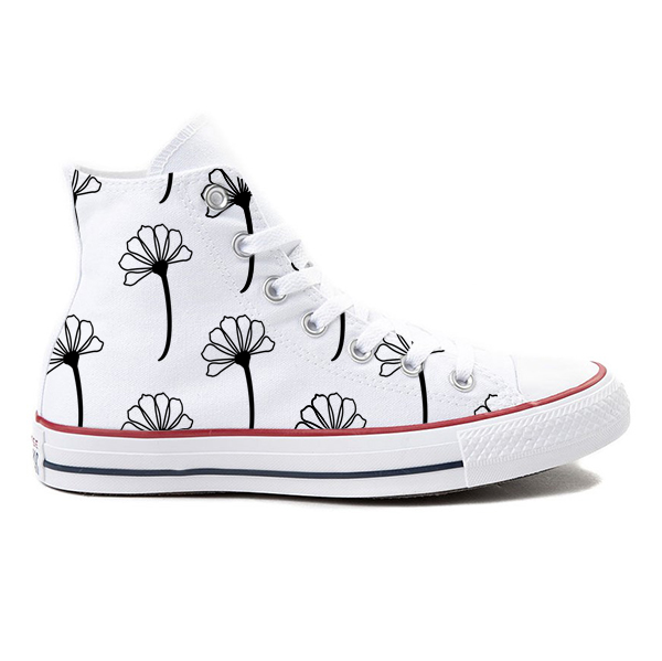 Bloom White High-Top Converse