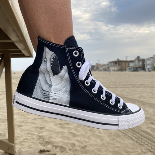 Great White Shark Breach High Top Converse