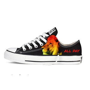 US Men's size 13 Black Low Top Chucks - All Day Dre Day - Custom Order