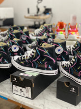 Load image into Gallery viewer, 11 Pairs of Black Converse High Tops - Custom Order - Final Invoice