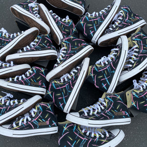 11 Pairs of Black Converse High Tops - Custom Order - Final Invoice