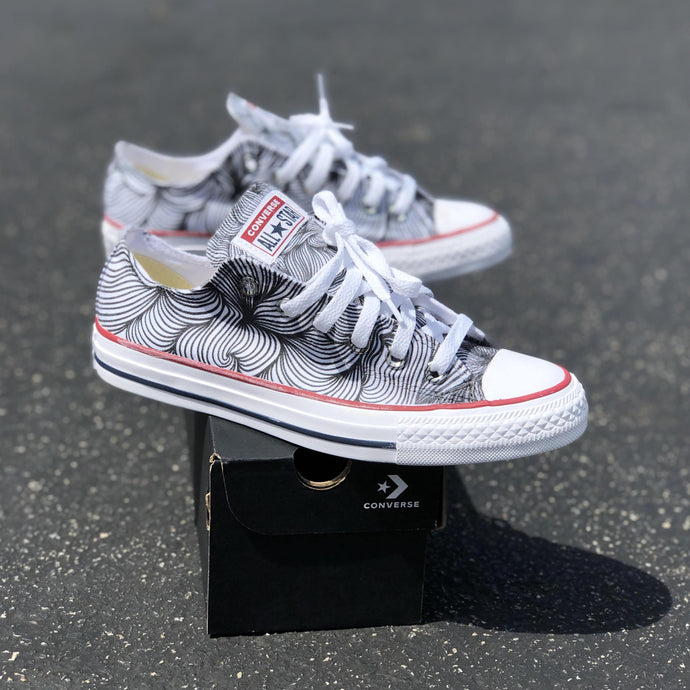 Swirl White Low-Top Converse