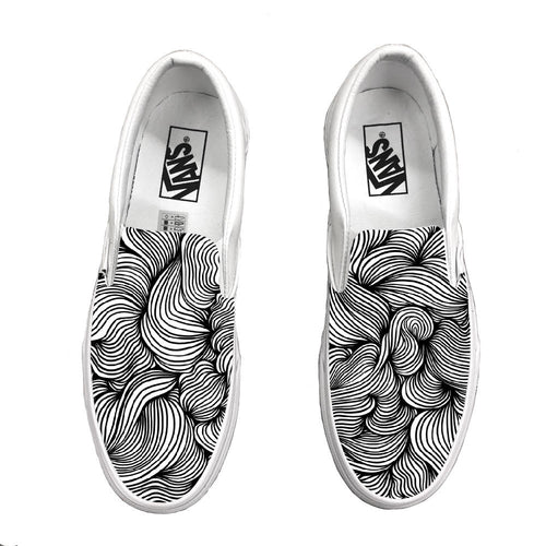 11:55 White Slip-On Vans