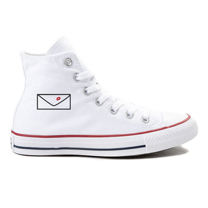 Love Letter White High-Top Converse