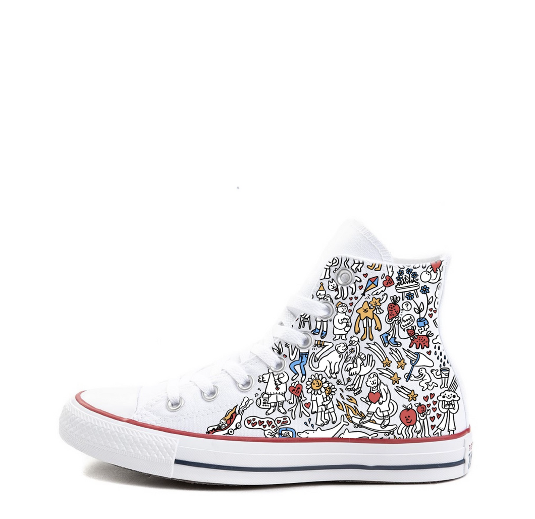 What Makes You Smile Doodles Converse