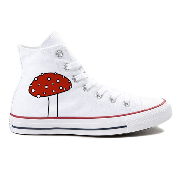 Shroom Head White High-Top Converse