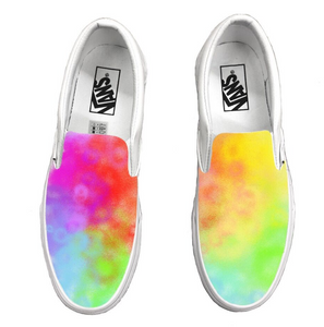 Vans Slip-Ons Rainbow Watercolor- Abstract Series