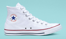 Load image into Gallery viewer, US Men's Size 9.5 White High Top Converse- Japanese Yin & Yang Koi Fish- BLVD Custom