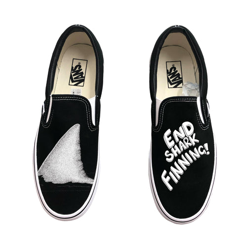 End Shark Finning Slip-On Vans