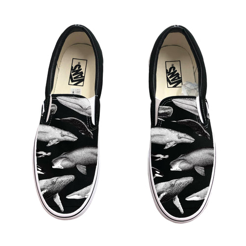 Whales World Wide Slip-On Vans