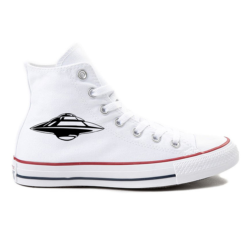 Alien Invasion White High-Top Converse