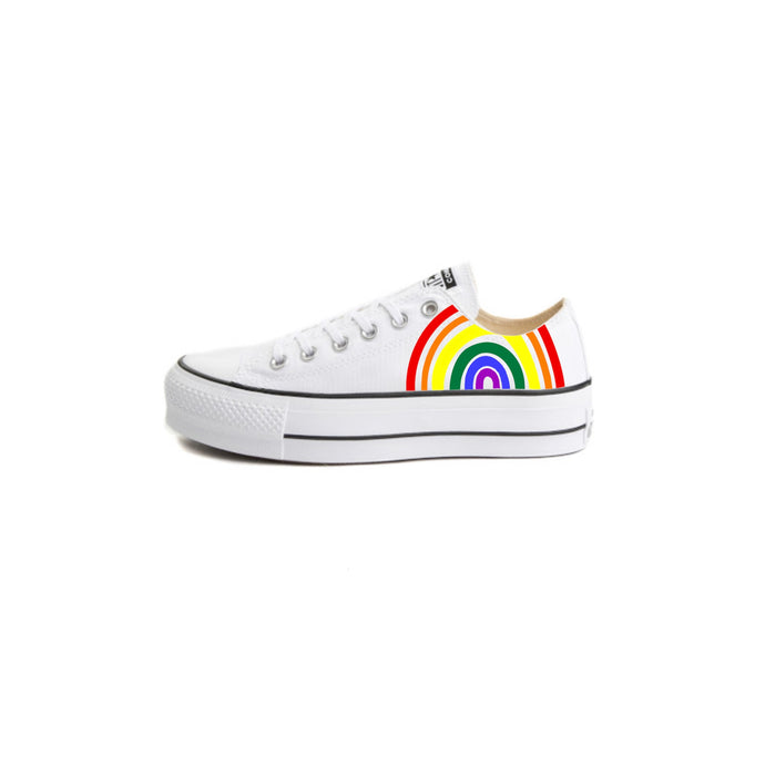 LGBTQ+ Rainbow Converse Platforms - Custom Converse for Summer, Pride, Parades, Marches, Picnics