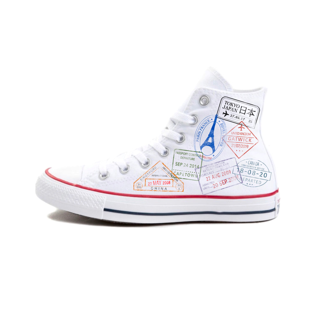 Passport Stamp Hi-top Converse