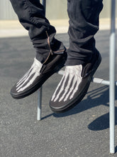 Load image into Gallery viewer, Custom Skeleton Feet X-Ray Vans ALL BLACK Slip On Shoes