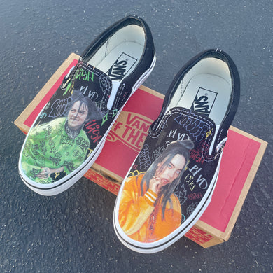 Billie Eilish Custom Sneakers - Slip On Vans