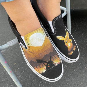 I Choose You! Custom Vans Slip On Sneakers