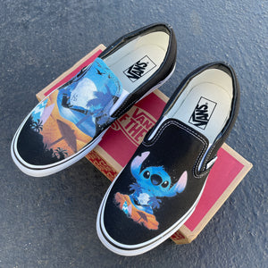 Ohana Means Family Custom Vans Slip On Sneakers